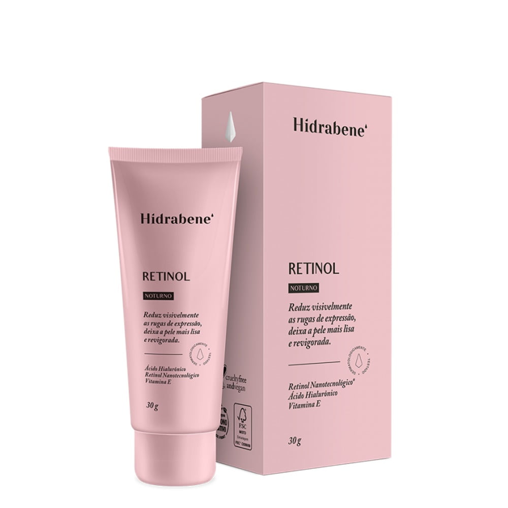 Hidrabene Retinol Antirrugas Ácido Hialurônico Vitamina  E