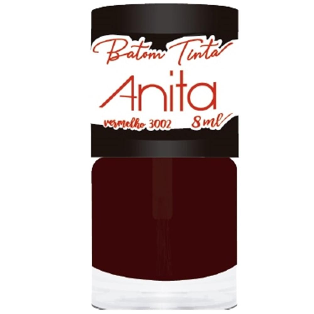 Batom Tinta Lip Tint Anita Cor 3002 - Vermelho