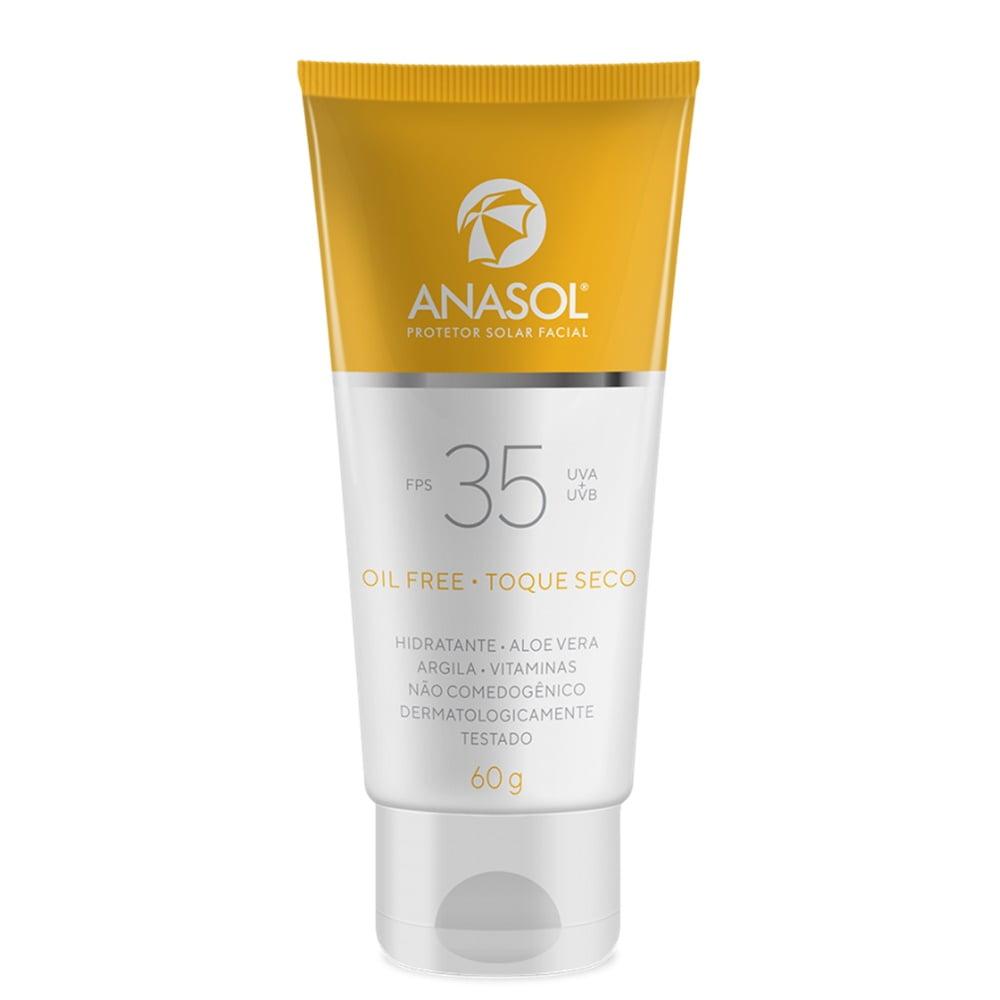 Anasol Facial Protetor Solar FPS35  60G - Toque Seco - Hipoalergênico