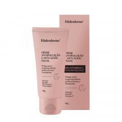 Hidrabene Creme Facial Antipoluição e Anti-Aging 10% Vitamina C 60g