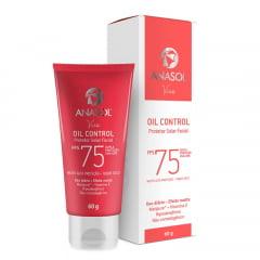 Anasol Facial Protetor Solar FPS 75 Oil Control para Pele Oleosa - Oil Free - Hipoalergênico