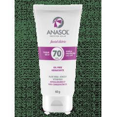 Anasol Facial Protetor Solar FPS70  60G - Toque Seco - Hipoalergênico