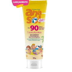 Anasol Kids FPS90 Protetor Solar Infantil 100g - Hipoalergênico - 5 h de Proteção - Muito resistente à água
