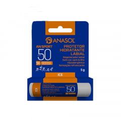 Anasol Protetor Solar Labial FPS 50 AN Sport Até 5 h  Resistente a Água e Suor