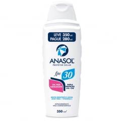 Anasol Protetor Solar FPS30 Loção 350ml  - Toque seco -  Hipoalergênico