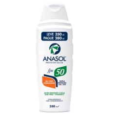 Anasol Protetor Solar FPS50 Loção 350ml -  Toque seco -  Hipoalergênico