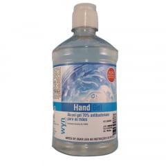 Alcool Gel 70% Antisseptico Bactericida Para Mãos 500ml