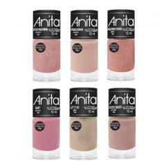 Esmalte Anita Coleção Unicórnio com 6 Cores