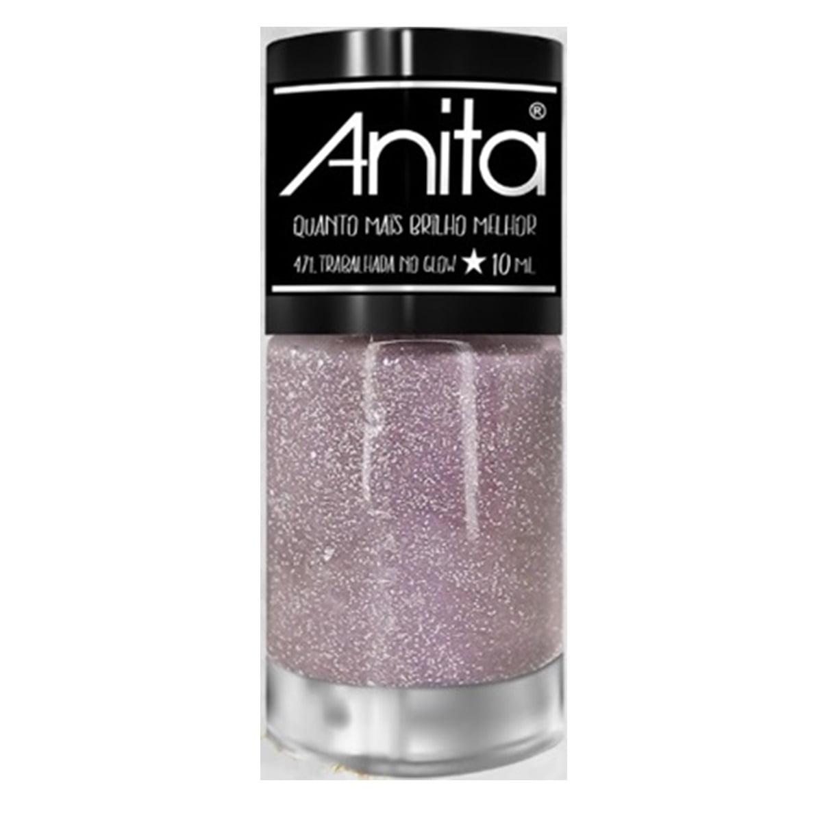 Esmalte Anita 471 Trabalhada no Glow - Quanto Mais Brilho Melhor