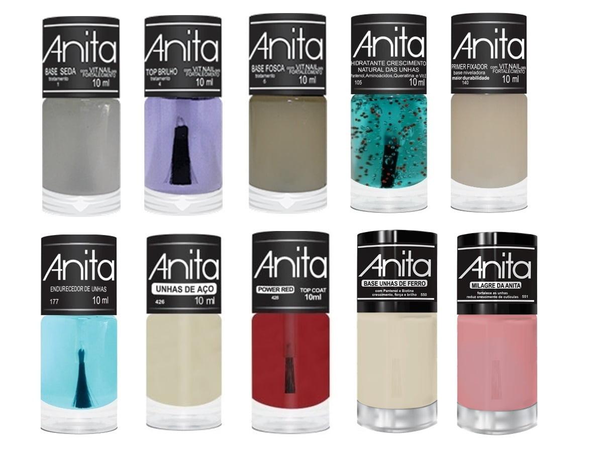 Esmalte Anita Kit Tratamento com 10 Produtos